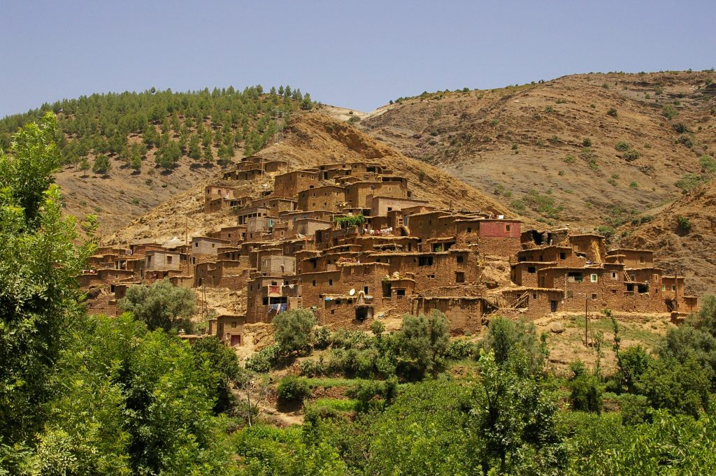 berber villages in the mountains
